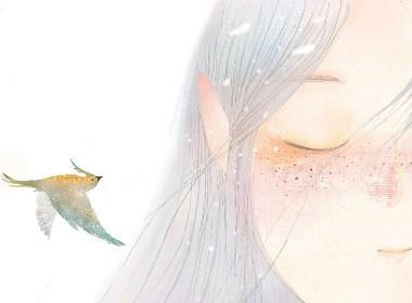 向日葵情书插画欣赏