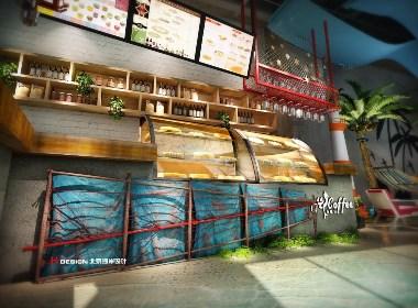 咖啡餐厅设计公司,湖南益阳嗨咖啡设计方案|北京海岸设计