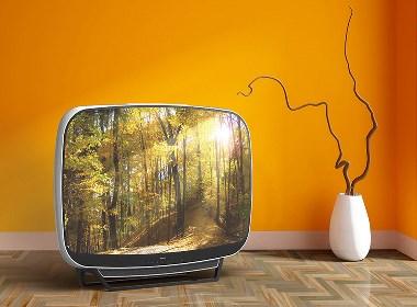 超有吸引力的一款复古电视设计