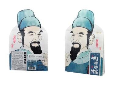 一道设计原创作品/休闲食品包装/零食包装/人物插画包装/特产包装