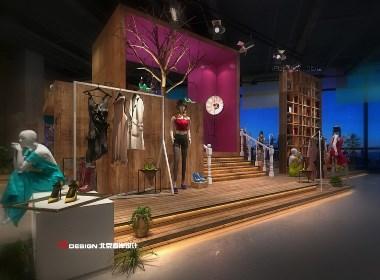 重庆靓影Showroom服装店设计方案|北京海岸设计