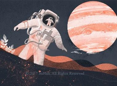 《睡在星光下》插画合集欣赏