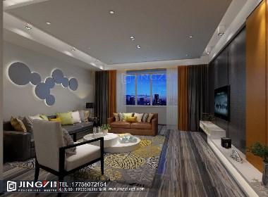 景逸效果图设计—家装低调的灰色调现代设计