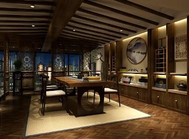古兰装饰-海伦尚玺茶楼设计|成都专业特色茶楼装修设计公司