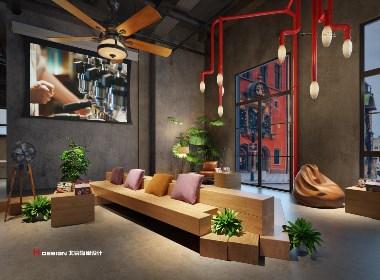 咖啡馆设计,青岛红树林度假世界红咖啡 1857㎡