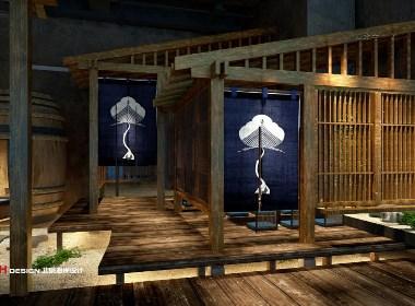 咖啡餐厅设计公司设计案例,青岛和风阁居酒屋 893㎡