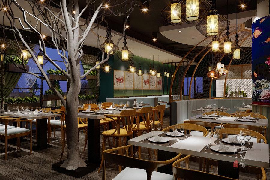 古兰装饰-海魔方海鲜餐厅装修|成都专业特色海鲜餐厅装修公司