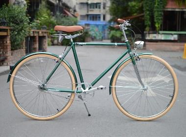 tsunami内三速复古通勤自行车