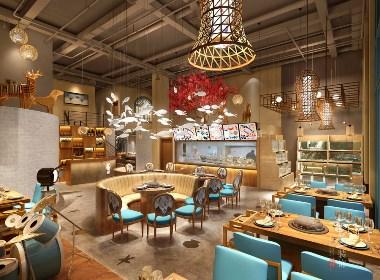 成都海鲜餐厅设计装修|成都海鲜餐厅设计装修公司|古兰装饰