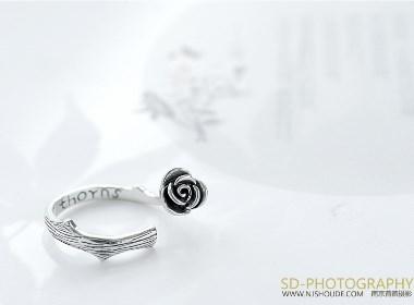 银饰品拍摄 珠宝首饰摄影 钻戒项链拍摄 淘宝商品摄影