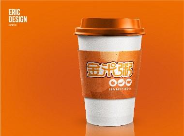 金米粥中式快餐标志LOGO设计及VI设计