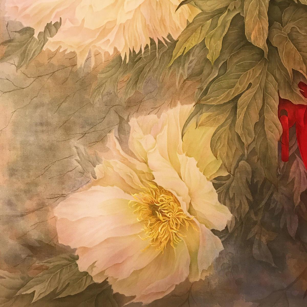 富贵平安,国色天香国画欣赏