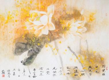 金香国画艺术欣赏