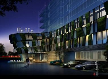 嗨喽精品文化商旅酒店设计案例赏析——成都专业精品酒店设计|古兰装饰