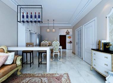 紫林湾135㎡简约美式,这装修效果朋友看了都说好,客厅大气!