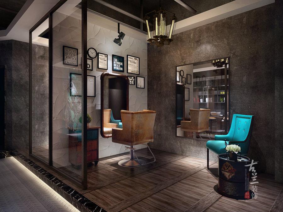 弥造型理发店 成都专业理发店设计 成都理发店装修公司