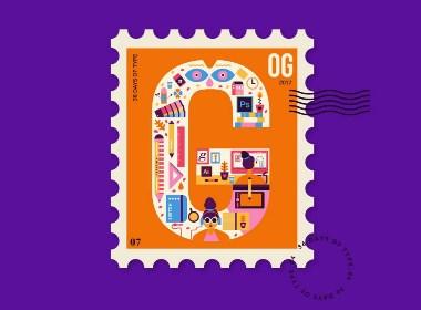 2017新型邮票图形设计