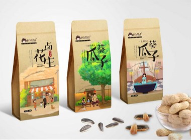 HMM韩梅梅零食包装设计(西安渡岸创意www.duanad.com )