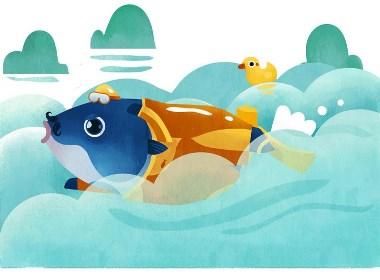 鱼先生包装插画