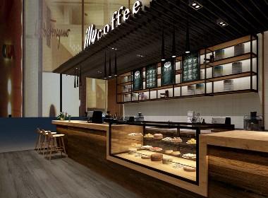 意利咖啡设计案例赏析——成都专业咖啡店设计公司|古兰装饰