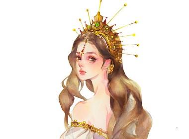 希腊女神插画欣赏