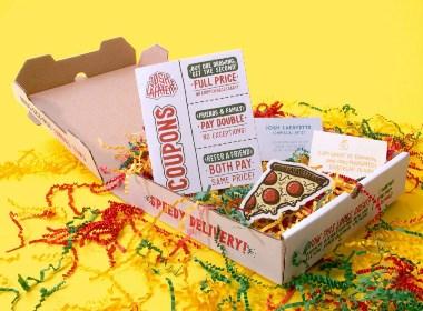 手工披萨盒促销包装设计