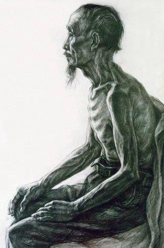 半裸的老人