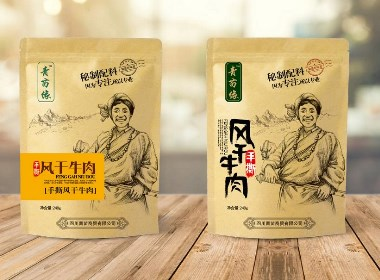 牛肉干包裝/藏族元素/休閑食品包裝/牛皮紙包裝