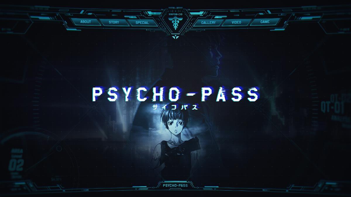 PSYCHO-PASS 页面设计