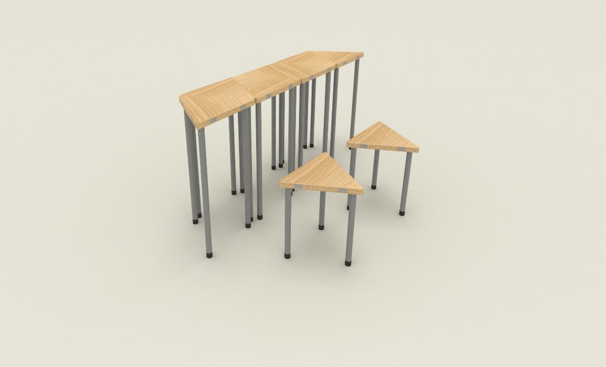 """""""60°""""自由拼接桌椅"""