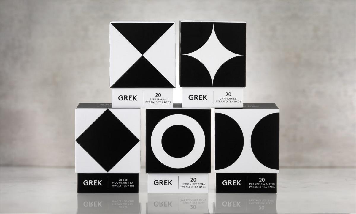 黑白配茶叶包装设计