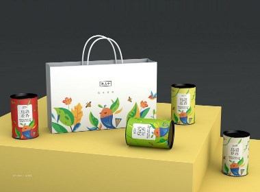 《鳥語花香·花茶系列》茶葉包裝設計
