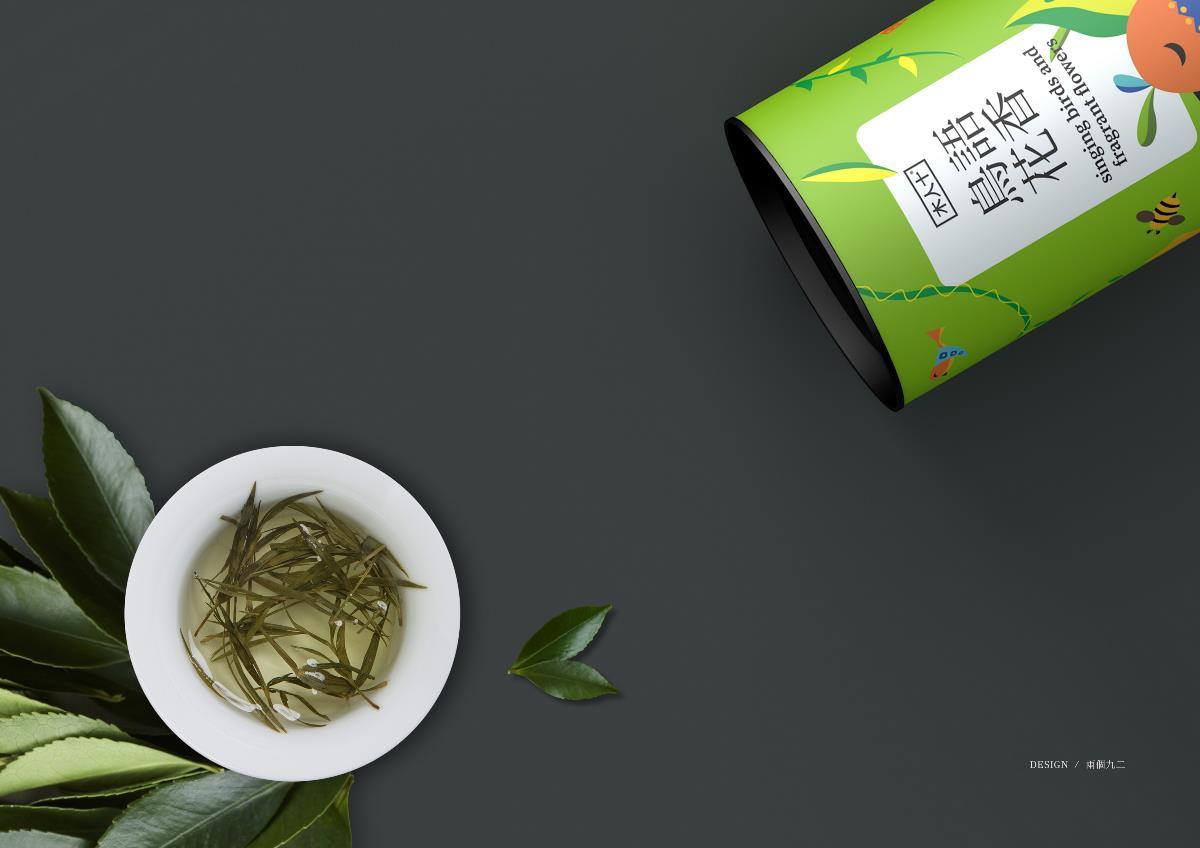《鸟语花香·花茶系列》茶叶包装设计