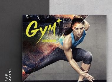 级加健身画册设计