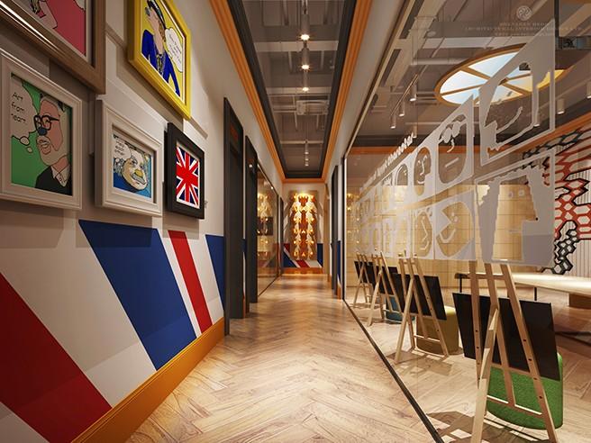 多多熊艺术家园设计案例赏析——成都专业培训学校设计公司|古兰装饰