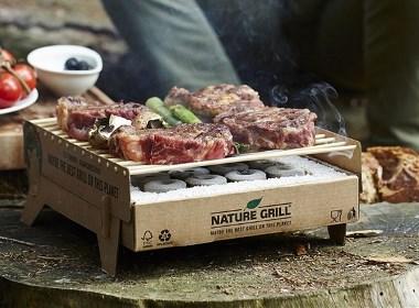这样烤肉比较环保?纸与竹子搭建的抛弃式烤炉