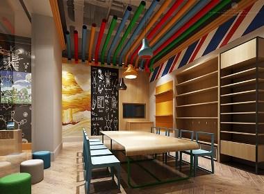 多多熊艺术家园设计案例赏析——成都专业培训学校设计公司|古兰装饰|成都专业早教中心设计