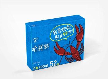 吮指虾包装设计