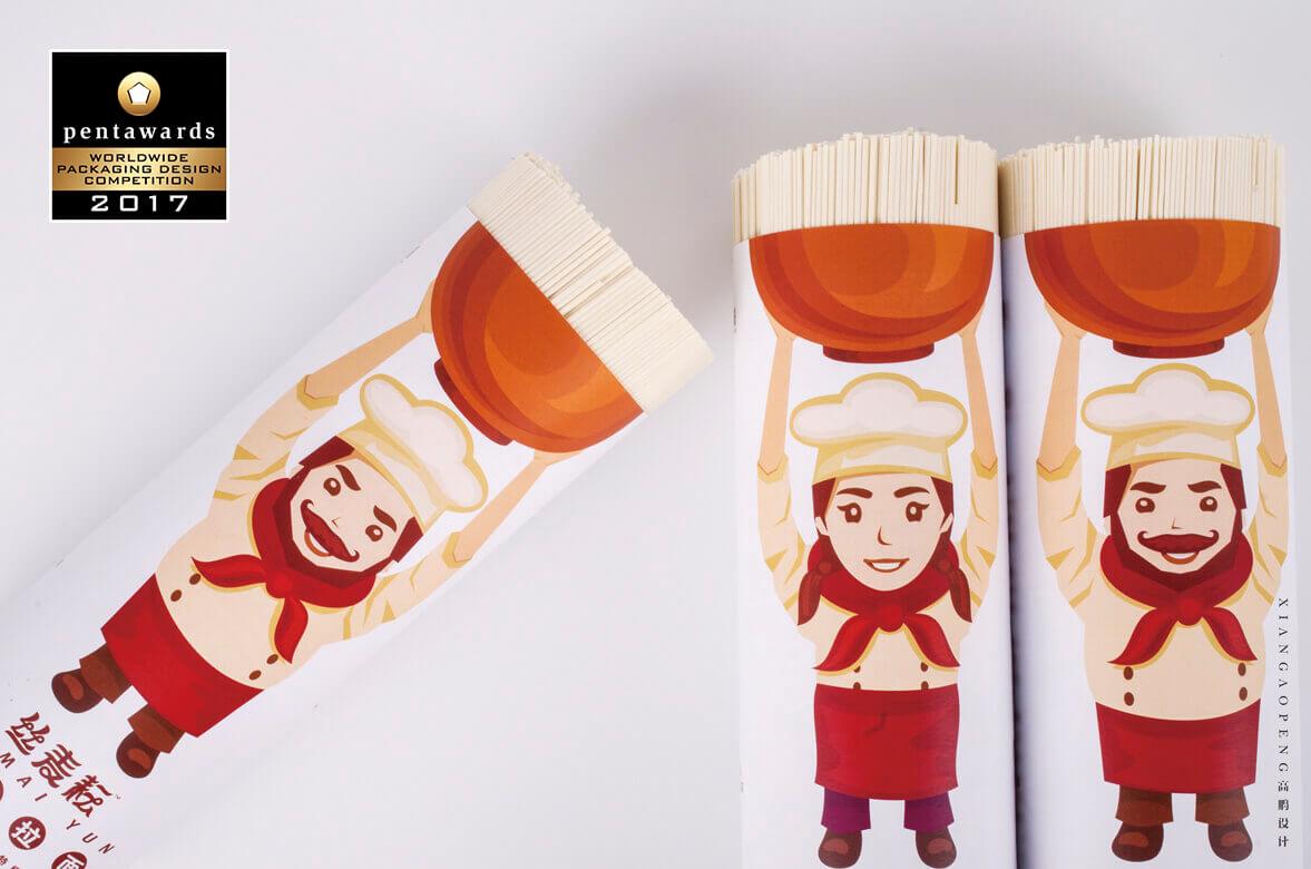高鹏设计-农产品丝麦耘挂面包装设计