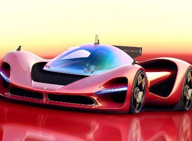 未来法拉利概念跑车设计