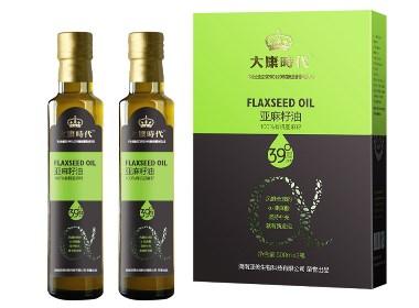 大康时代亚麻籽油 - 成都农产品包装设计-万城文化