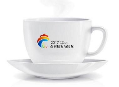 2017西安国际马拉松LOGO设计(西安渡岸创意www.duanad.com)