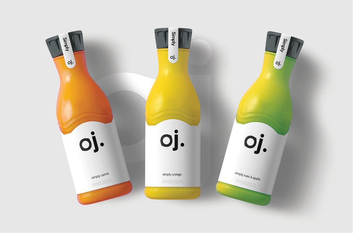 Oj果汁包装设计