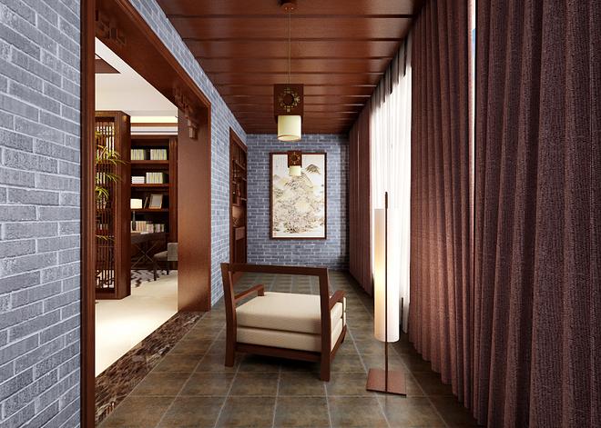 正如文字是我们思想的延伸一样,阳台就是建筑物室内的延伸,是居住者呼吸新鲜空气、晾晒衣物、摆放盆栽的场所,其设计需要兼顾实用与美观的原则。阳台一般有悬挑式、嵌入式、转角式三类。阳台不仅可以使居住者接受光照、吸收新鲜空气、进行户外锻炼、观赏、纳凉、晾晒衣物,如果布置得好,还可以变成宜人的小花园,使人足不出户也能欣赏到大自然中最可爱的色彩,呼吸到清新且带着花香的空气,这也正是中式风格装修所追求的自然和谐,通过在都市建筑中进行自然的融入来打造一种都市人梦寐以求的生活家园。
