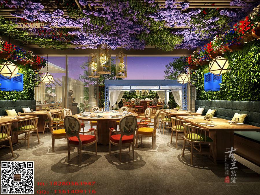 甘肃花园花园装修设计效果图-《鱼乐高点餐吧餐厅v花园至图片