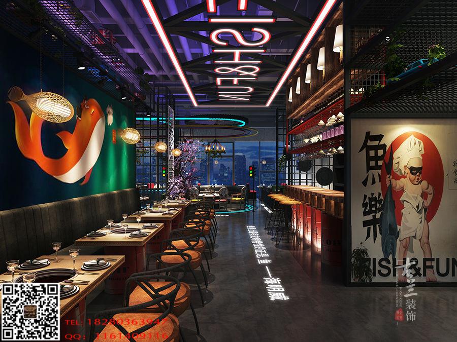 甘肃花园餐厅装修设计效果图-《鱼乐花园餐吧室内设计足球场高度图片