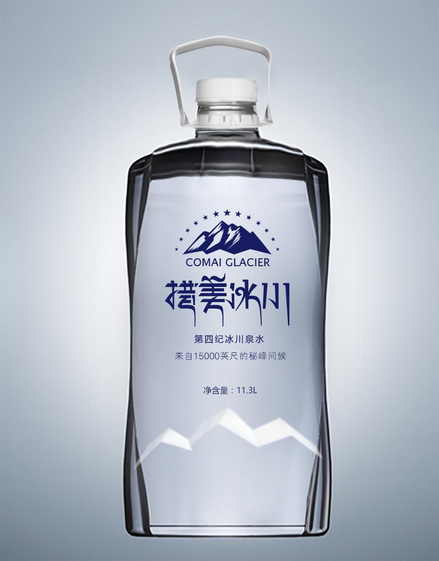 措美冰川-成都矿泉水包装设计-万城文化品牌设计
