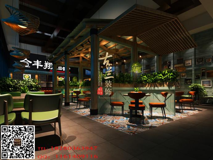 休闲雅致餐厅图纸-甘肃案例花园装修设计花园餐厅设计公园图片