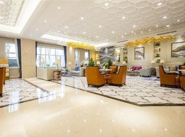 INHOUSE设计:鑫江桂花园1280㎡简欧风格售楼处设计!