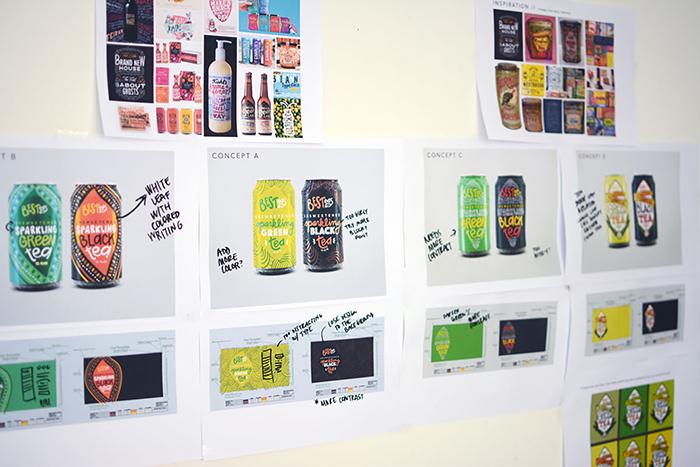 BesTeas罐装茶饮料包装设计欣赏